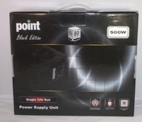Point Black 500W 80+ PSU12cm Fan 4 x SATA 1 x 8 Pin