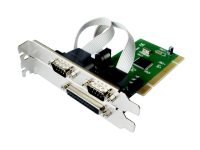 PCI multi I/O card 2x serial 1x parallel port